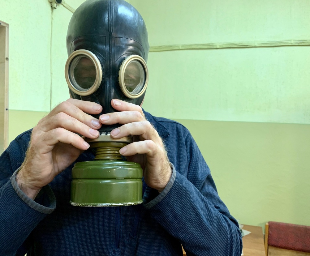 Gas mask Cold War Bunker Ligatny Latvia