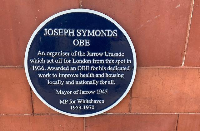 Jarrow March plaque