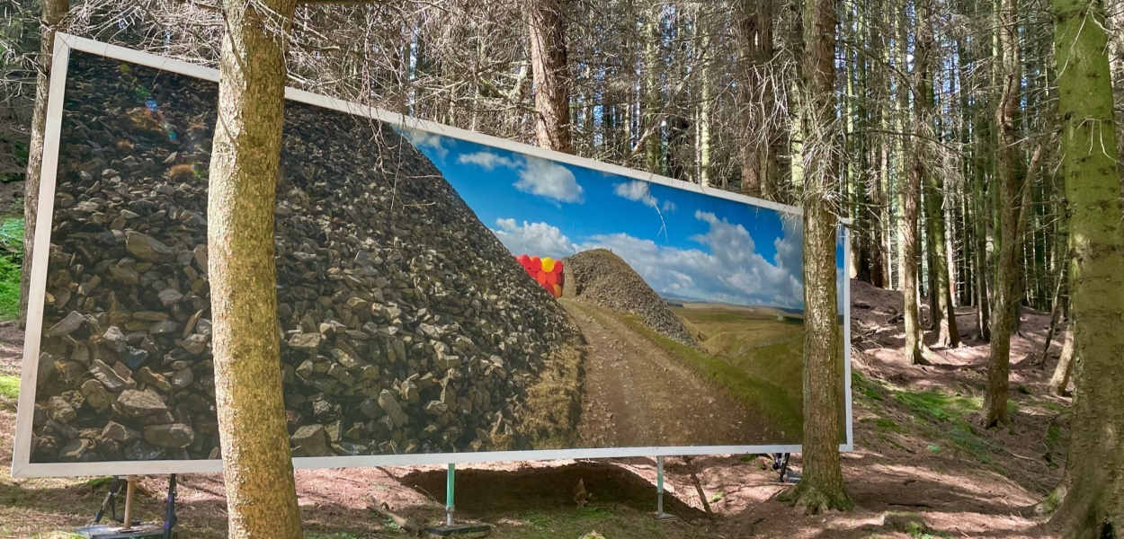 Killhope art billboard County Durham